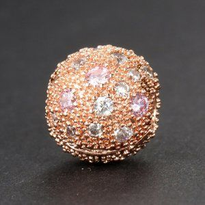 Authentic Pandora Rose Gold Pink Cosmic Stars Clip